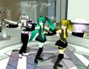 【初音ミク3D Vol MMD5】3名で、きしめんを躍らせてみた。