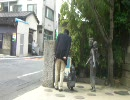 福井さん何故に銅像と話をしているのですか!?