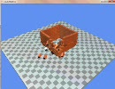 物理エンジン。ブロックに弾を当てて壊すシミュレーション。