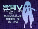 【第4回】MikuMikuDanceCup IV A NEW HOPE 本選動画一覧【MMD杯】