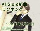 AHSloid新曲ランキング ~2010/2/21