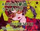 AHSloid新曲ランキング ~2010/3/7