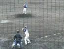 関西独立リーグ選抜×オリックス2軍 西川徹哉(神戸9C)投手の投球