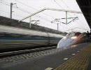 新幹線 500系のぞみ&こだま 西明石駅