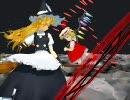 【東方MMD】魔理沙とフランが星空でキャッキャウフフ踊る動画